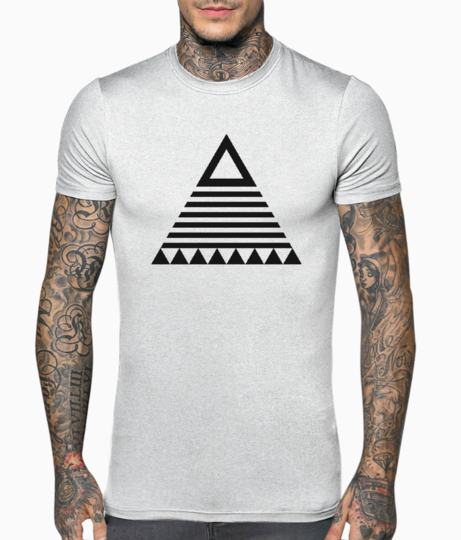 Tribal triangle t shirt front