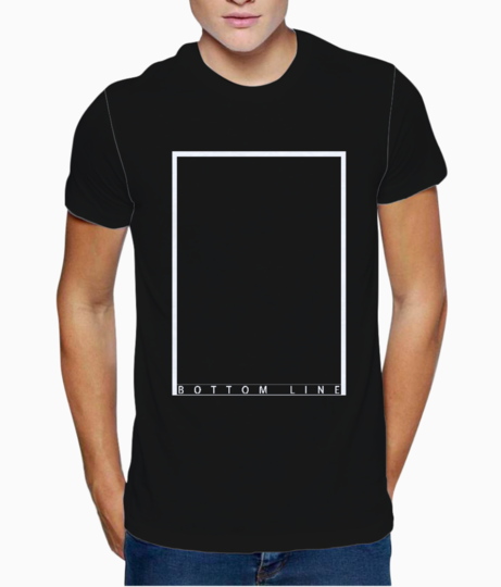 Line bottom t shirt front