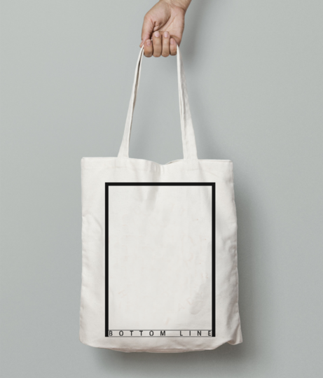 Bottom line tote bag front