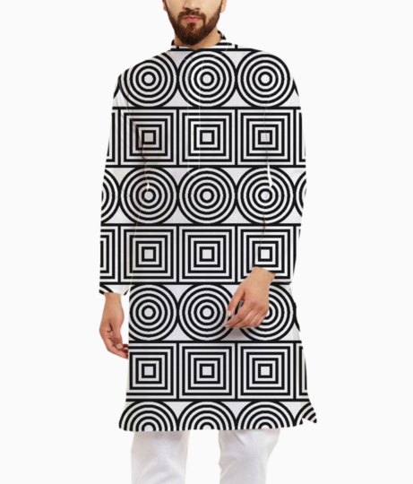 Circles and squares kurta front