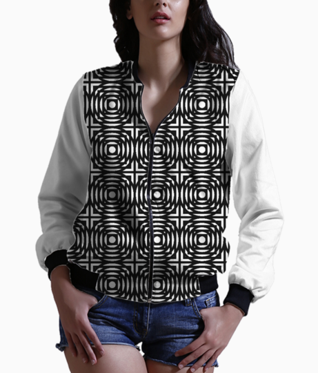 Abstract circles and squares bomber front