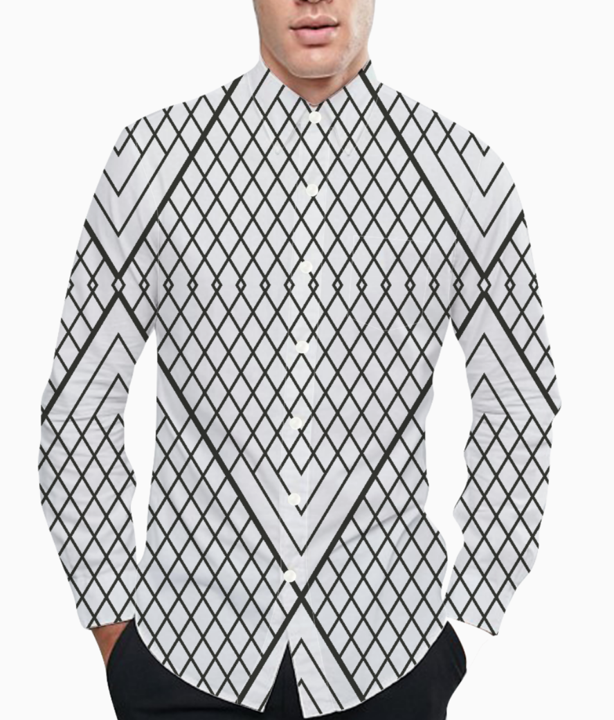 Triangle lines basic shirt front