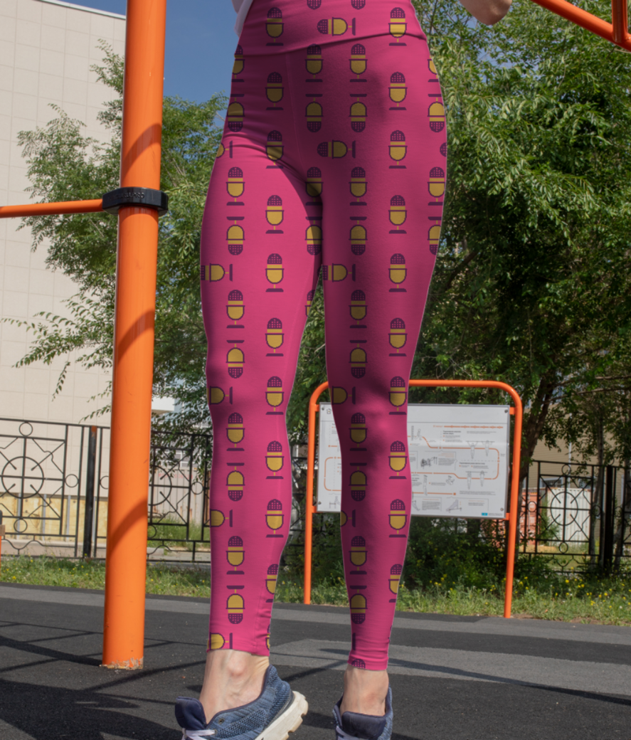 Microphone leggings front