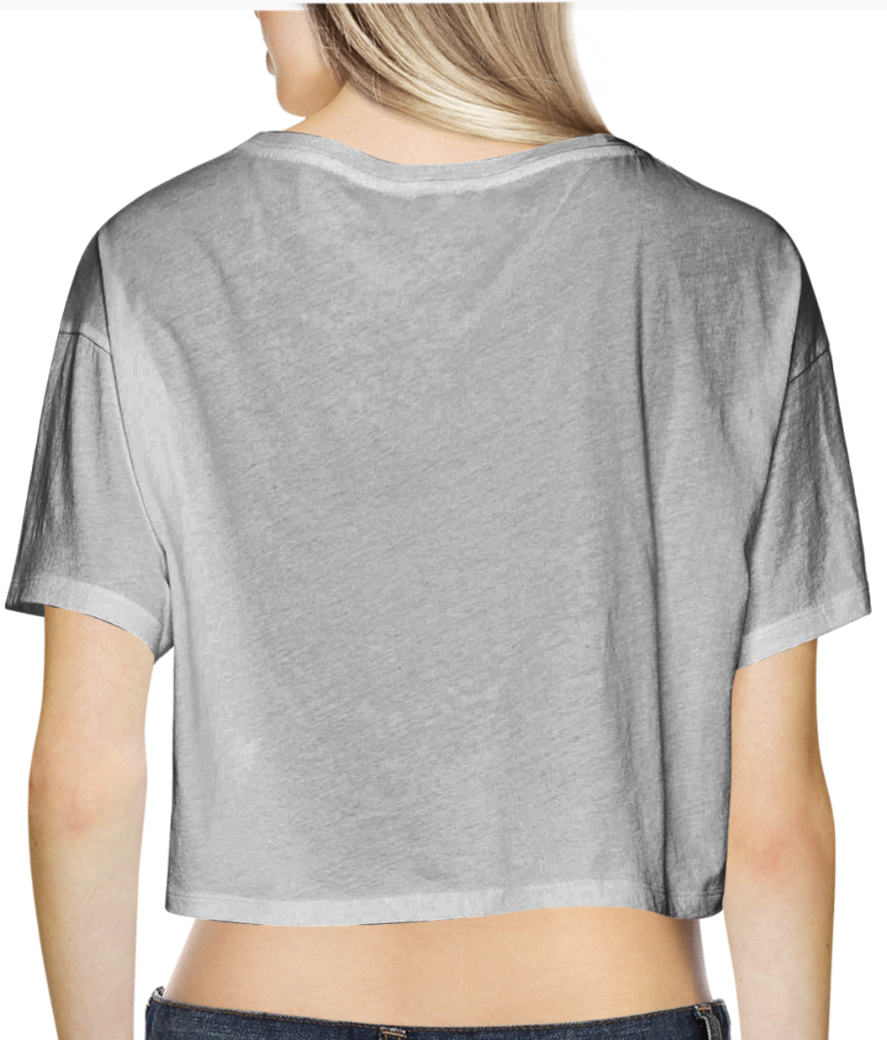 8 crop top back