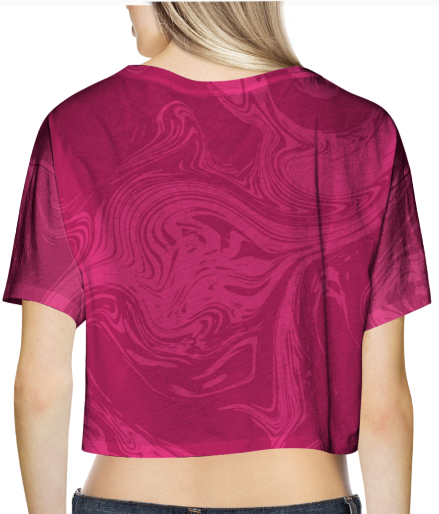 Modern marble liquid background pink 4111 19 crop top back