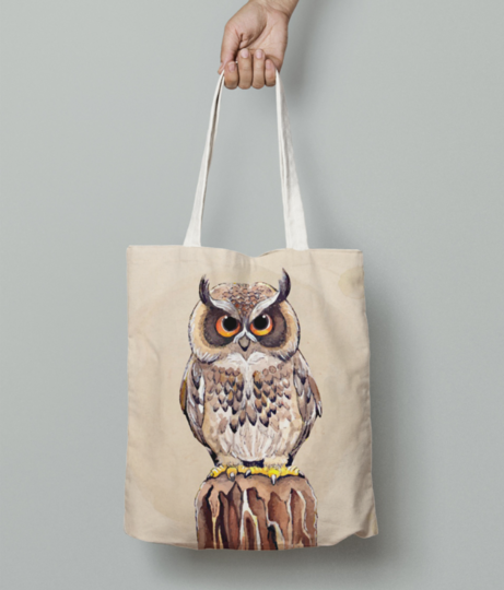 Beautiful hand drawn owl 23 2147616939 tote bag front
