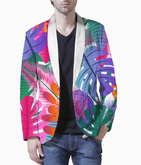 Tropical background blazer front