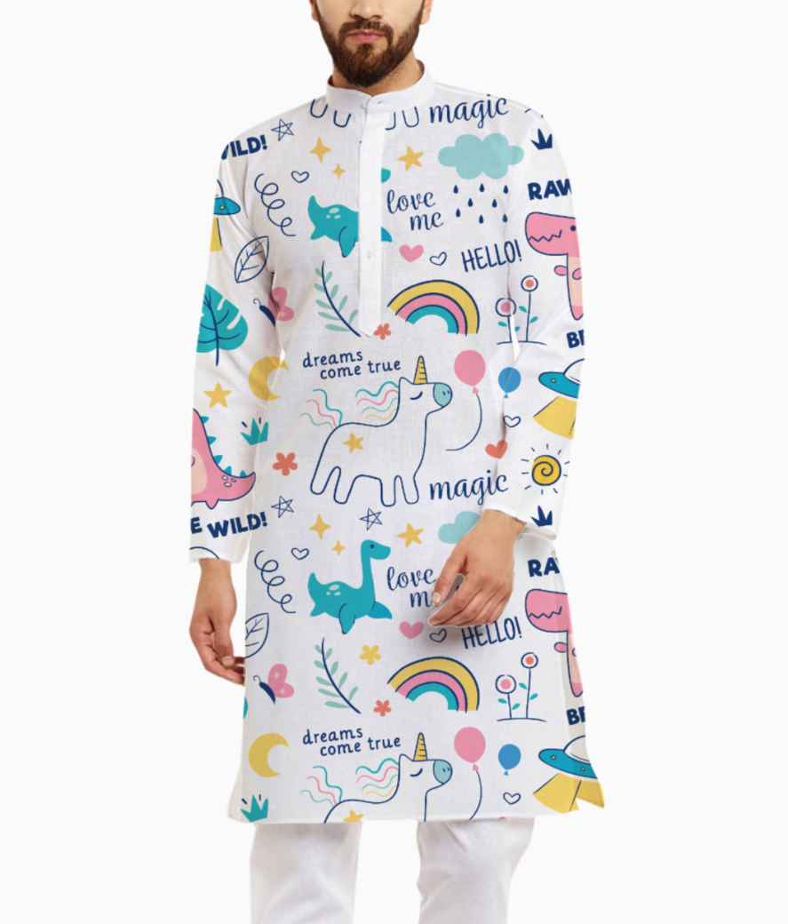 Unicorn love kurta front