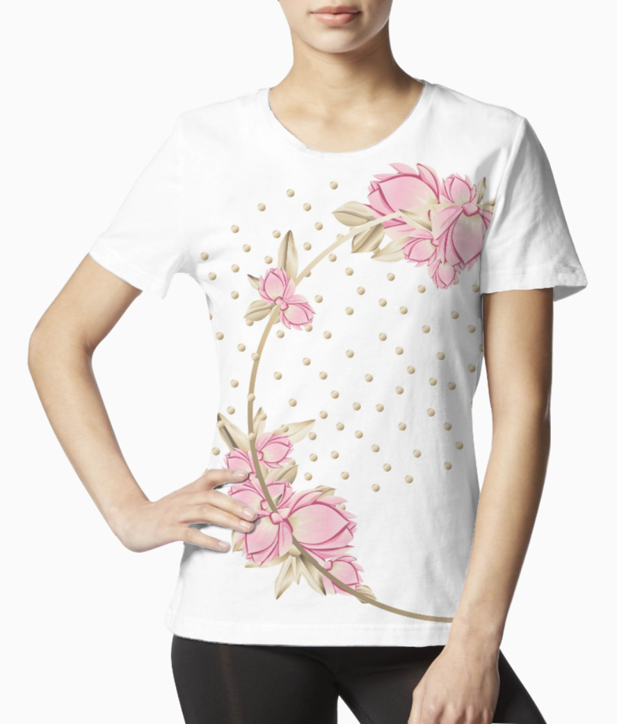 Rose tee front