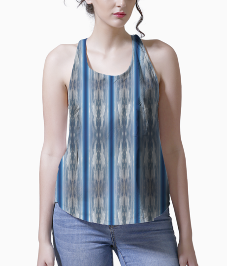 Cloudy stripes tank front