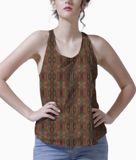 Abstract brown tank front