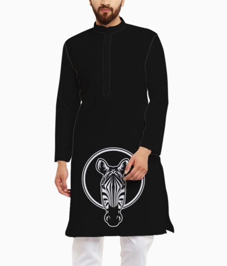 Zebra head face design illustration 68946 72 kurta front