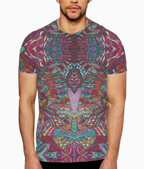 Abstract kaleidescope 2 t shirt front