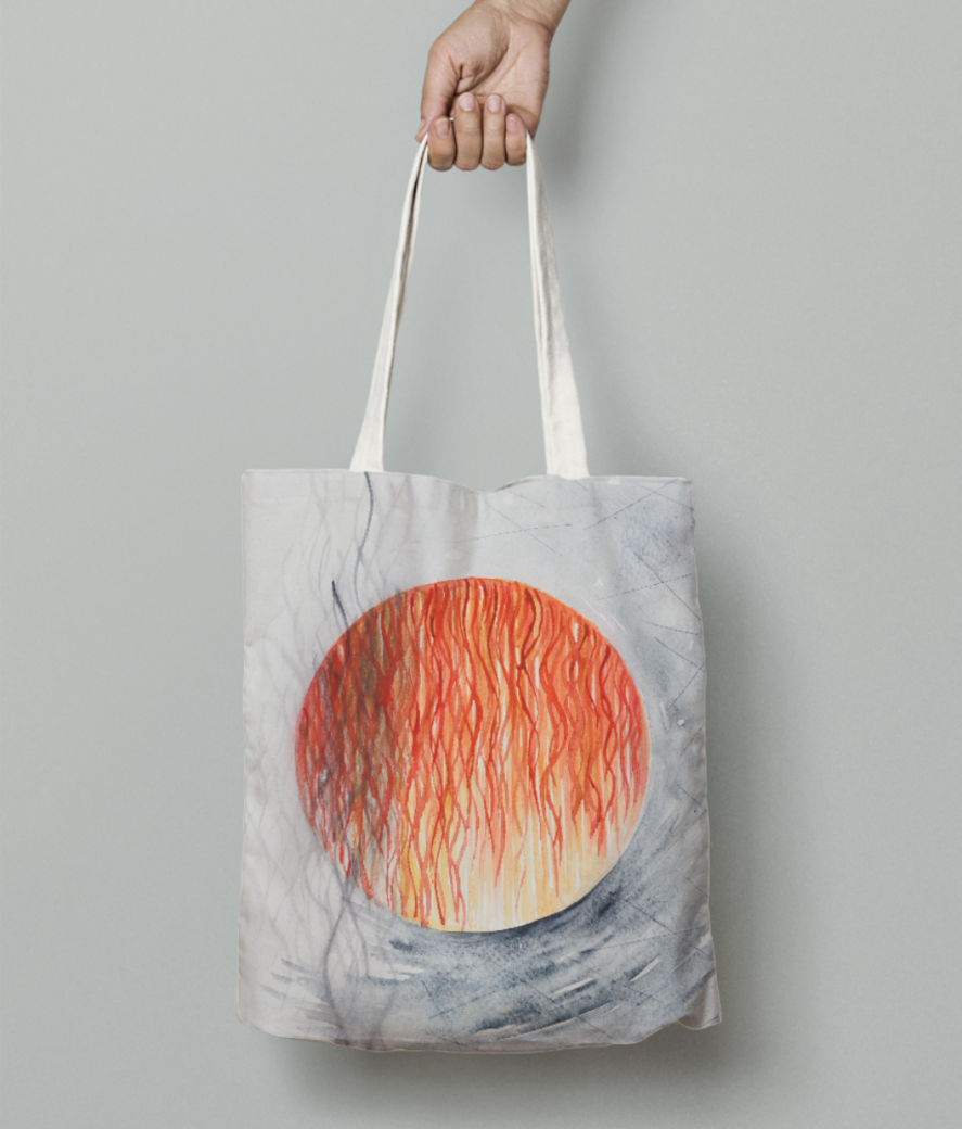 7x9 tote bag front