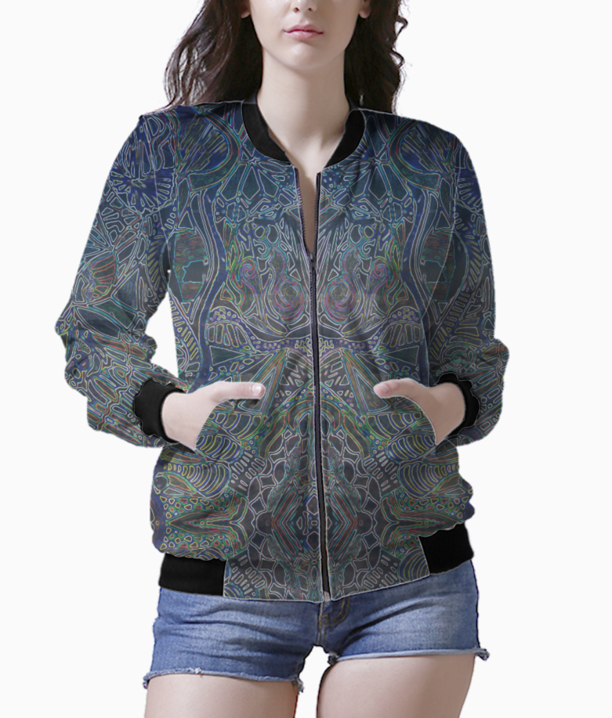 Hypnotic lines hilight bomber front