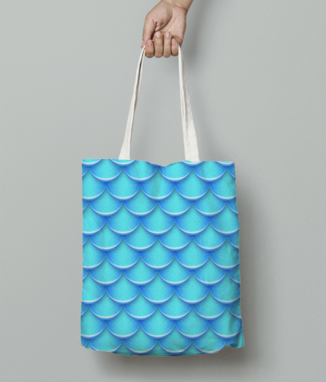 Blueeee tote bag front