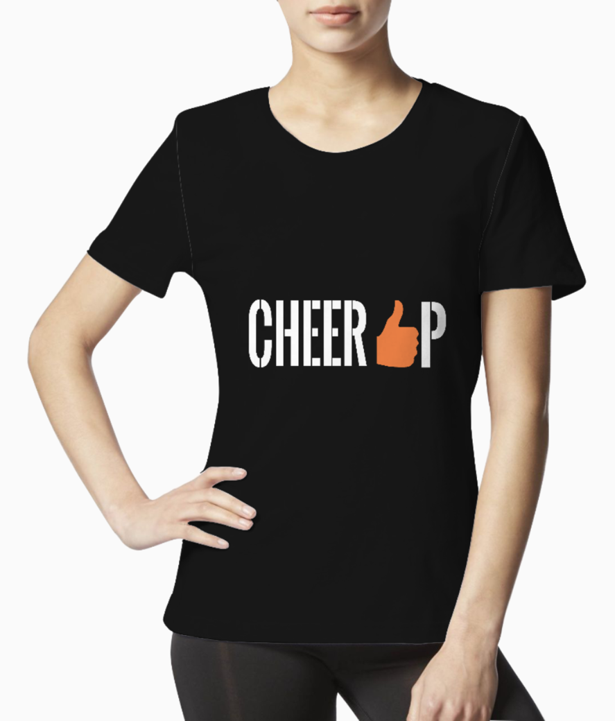 Cheer up  white tee front