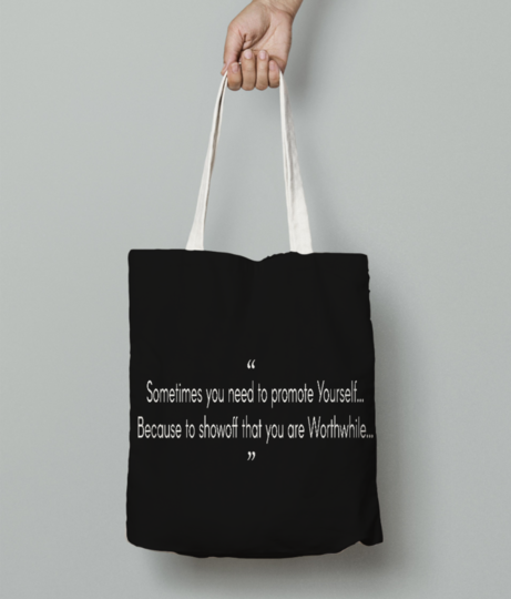 Sometimes  white tote bag front