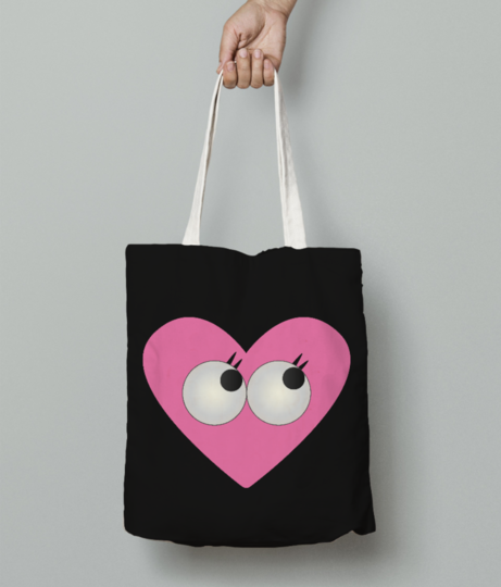 Lovely eyes tote bag front