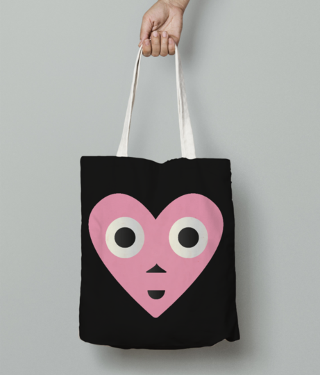 Lovely baby tote bag front