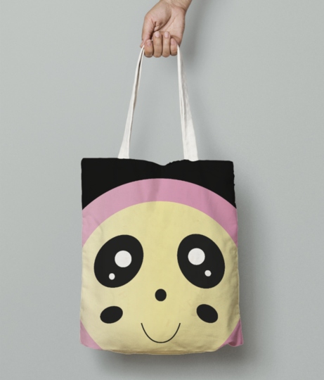 Pinky cutie tote bag front