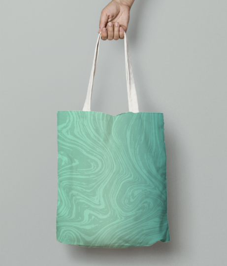 Marble art tote bag front