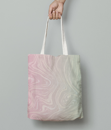 Pastel marble tote bag front