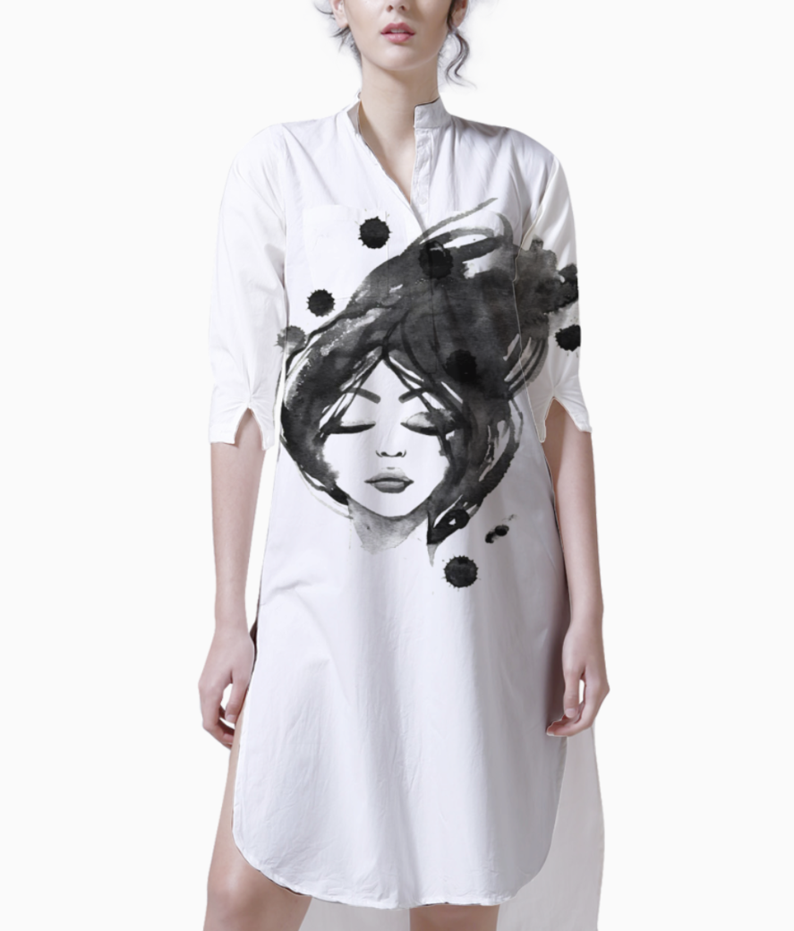 Hand painted black woman 23 2147521262 kurti front