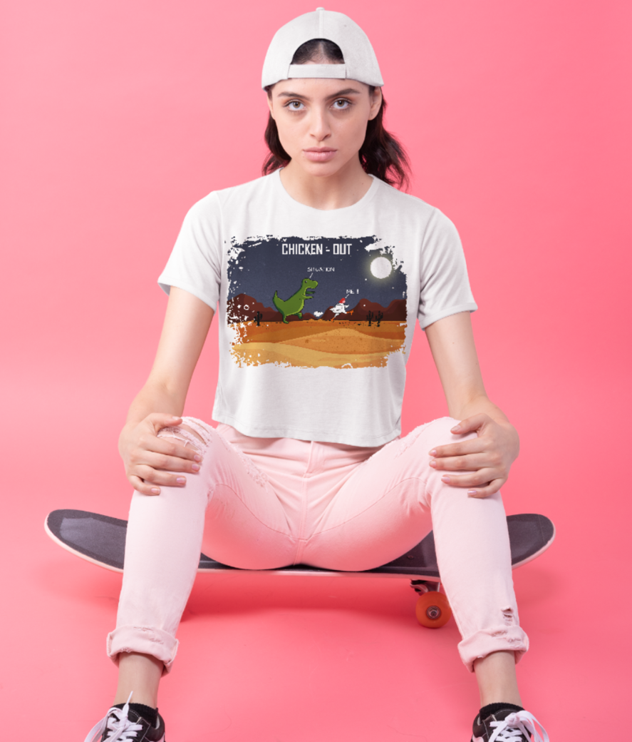 Chicken out 11 crop top front