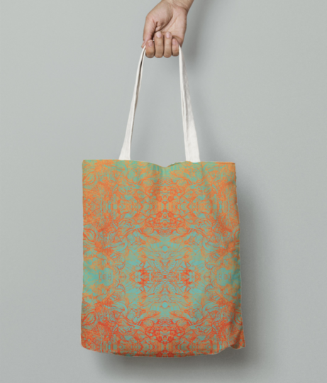 Peachy touch tote bag front