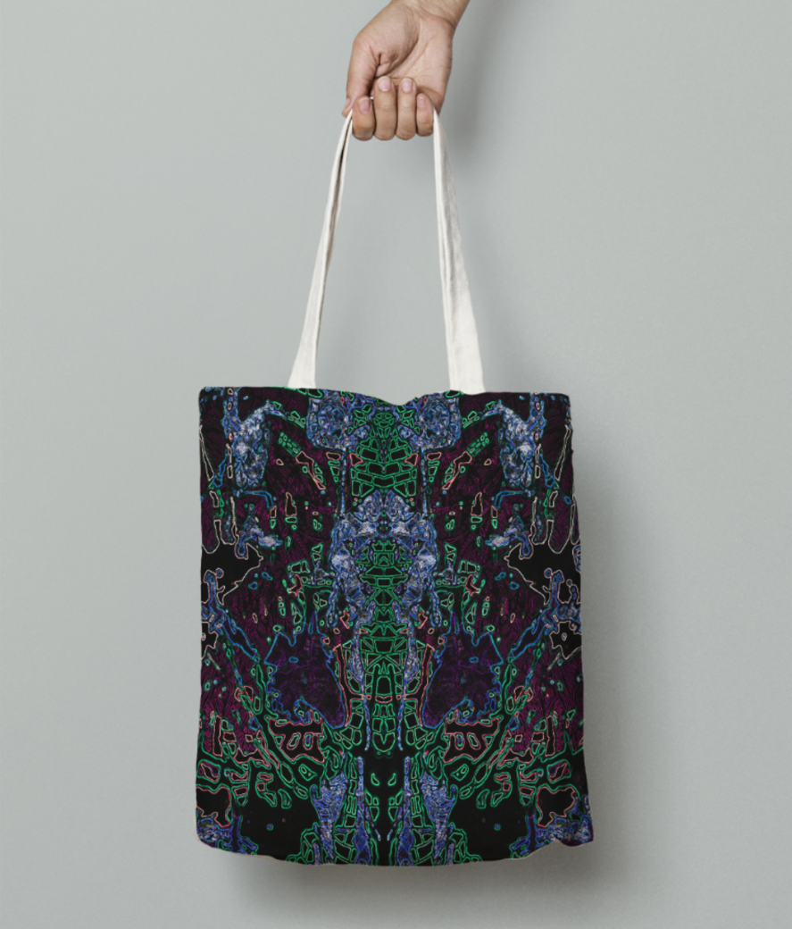Droplet fall tote bag front