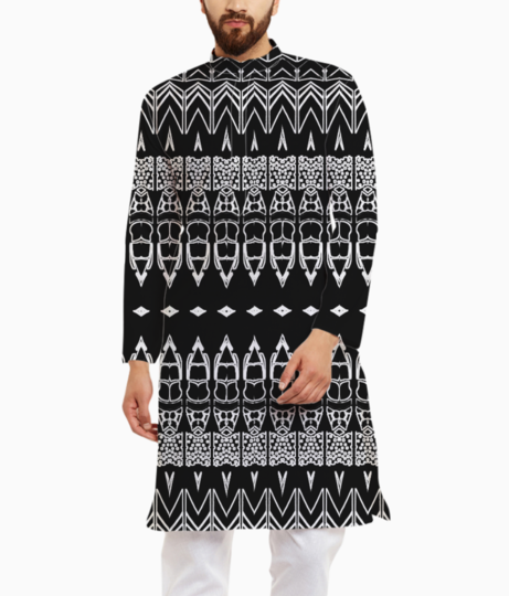 Abstract bullet kurta front
