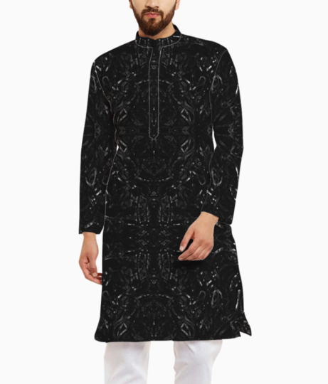 Abstraction colours3s kurta front