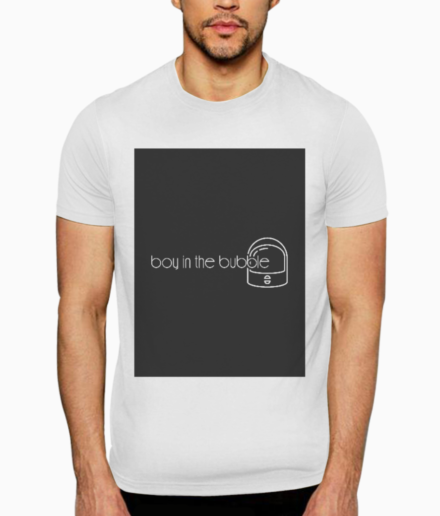 Boy in the bubble t shirt front