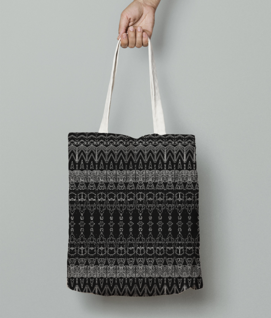 Abstract bullet iii tote bag front