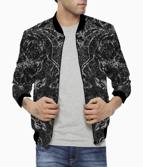 Abstract fire blue bomber front