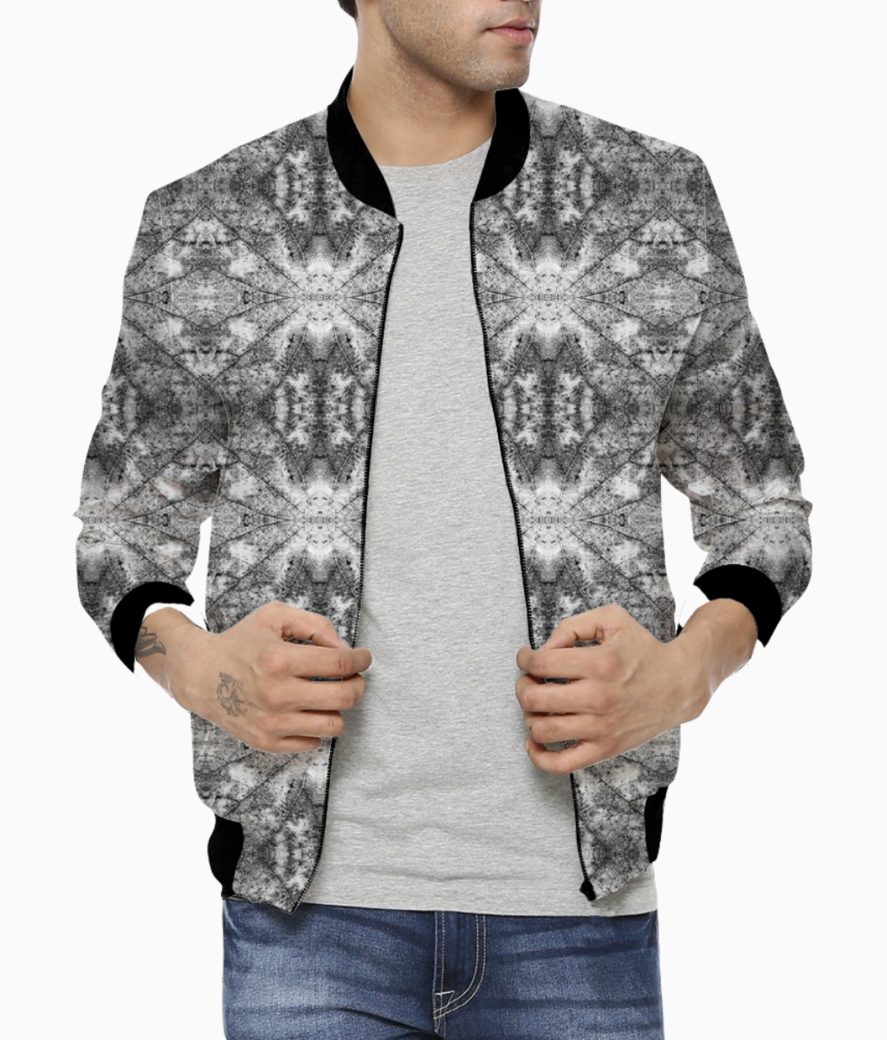 Abstract leaves bomber front