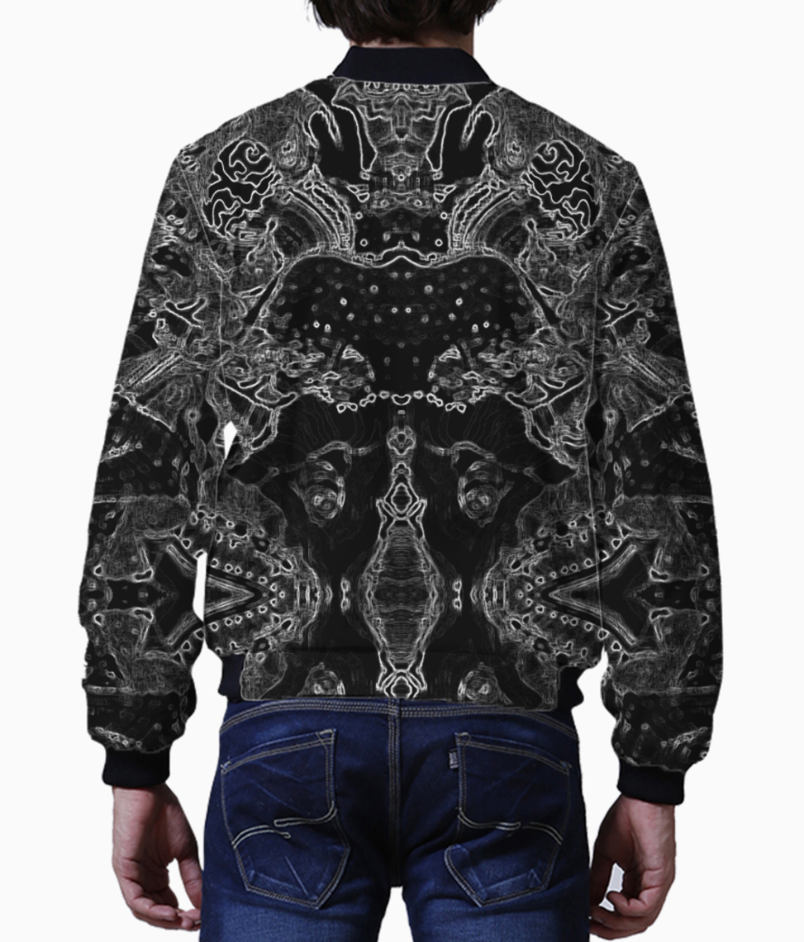 Abstract spider bomber back