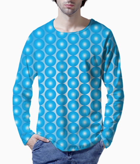 Blue pearl pattern henley front