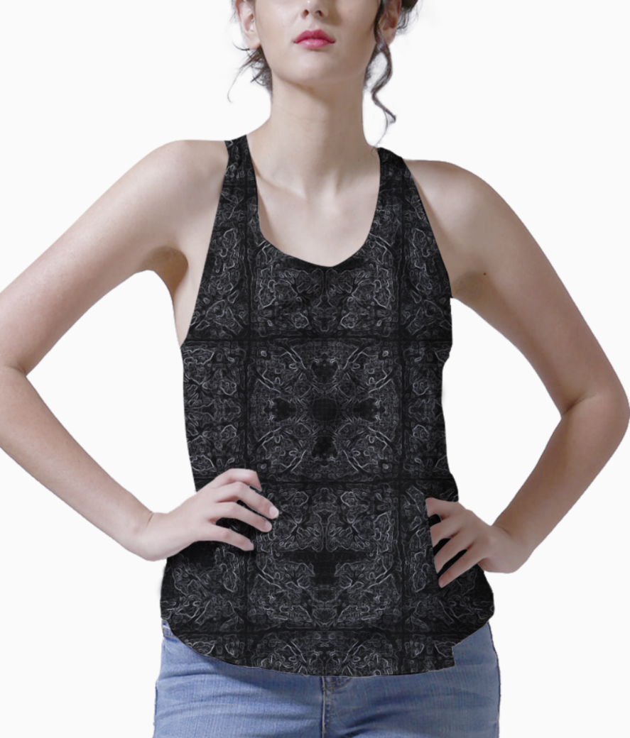 Abstract browned tank front