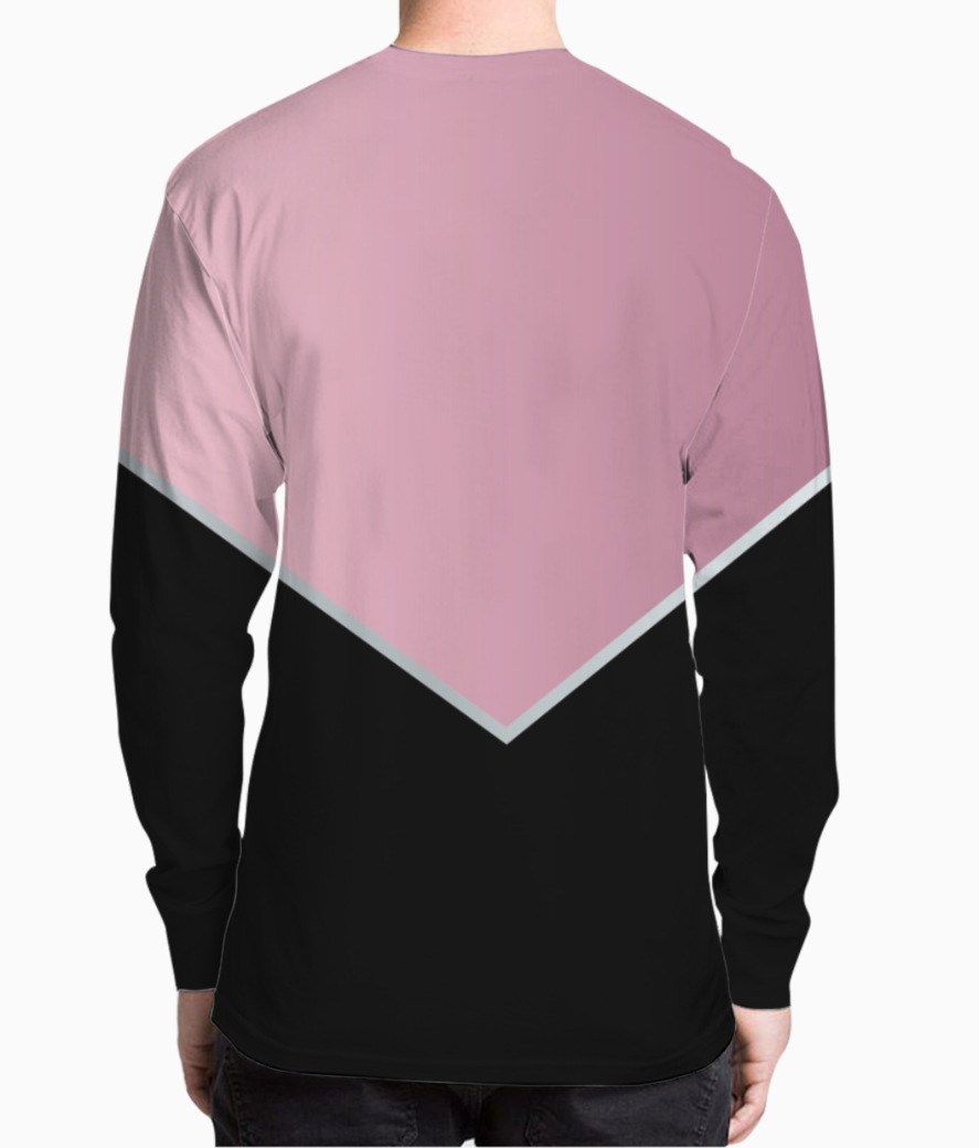 Pinky modern abstract henley back