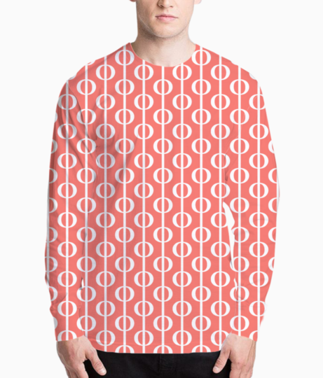 Living coral  bubbles henley front