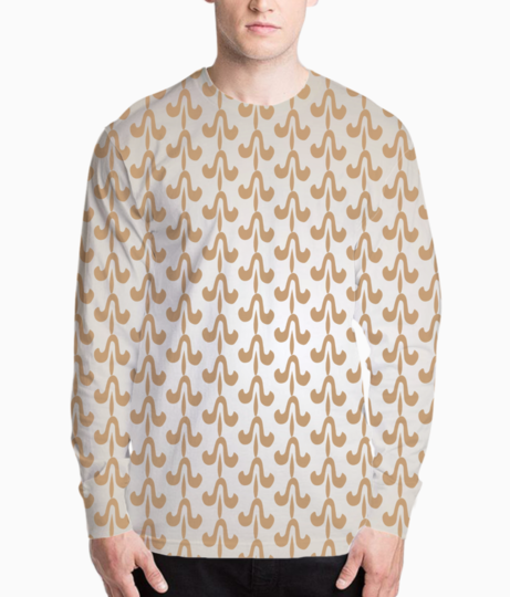 Indian style seamless pattern background henley front