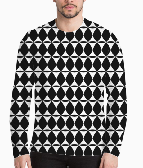 Indian pattern seamless background henley front