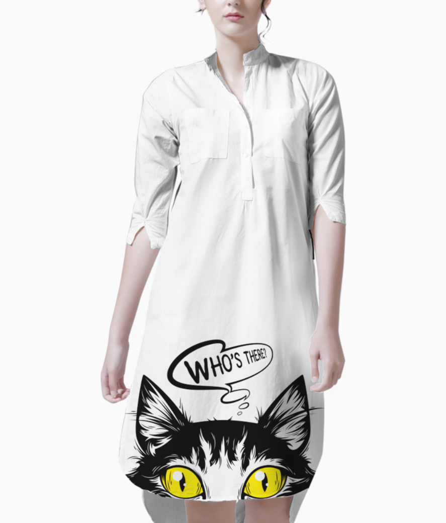 Cat that looks out 6229 110 kurti front