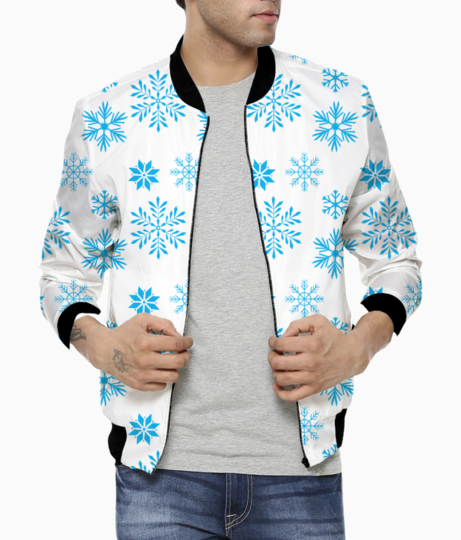 Snow flakes bomber front