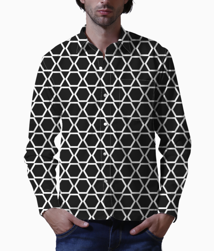 Black  islam art basic shirt front