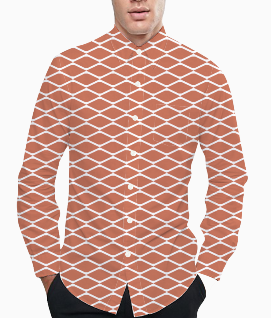 Brick seamless pattern background basic shirt front