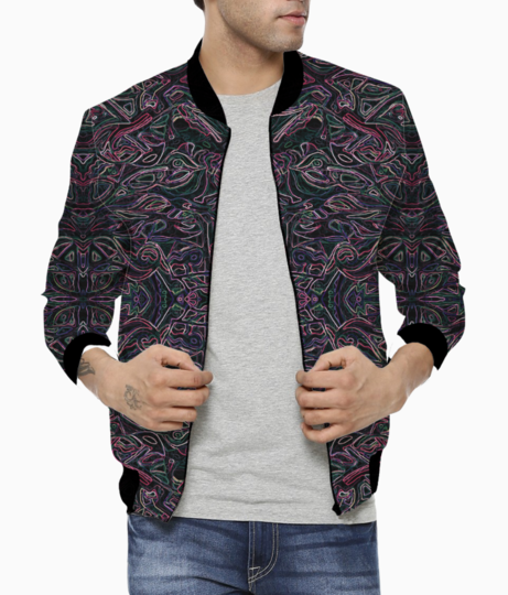 Abstraction colours 2s bomber front