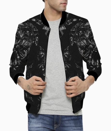 Abstract imprints bomber front